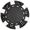 Фишка для покера черного цвета