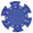 Фишка для покера синего цвета
