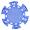 Фишка для покера голубого цвета