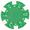 Фишка для покера зеленого цвета
