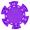 Фишка для покера фиолетового цвета