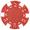 Фишка для покера красного цвета