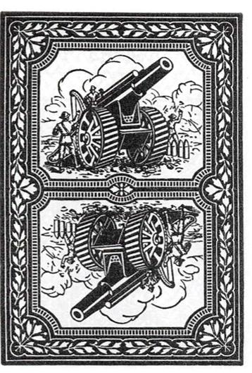 Игральная карта с изображением пушки